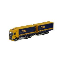Scania Scania S Highline CS20H Rigid Box Truck 6x2 + Box Drawbar Trailer 2 axle 'CSE Logistics' - 1:50 - WSI Models