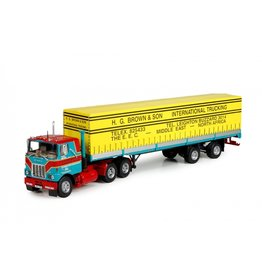 Mack Mack F700 Tractor 6x4 + Classic Curtainside Semitrailer 2 axle 'H.G. Brown & Son' - 1:50 - Tekno