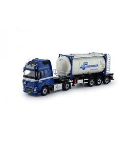 Volvo Volvo FH04 Globetrotter XL 4x2 + Container Trailer + Swap Tankcontainer 'Overmeer Transport' - 1:50 - Tekno