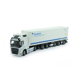 Volvo Volvo FH04 Globetrotter XL 4x2 + Container Trailer 5 axle + 40Ft Highcube Reefer Container 'Daikin'  - 1:50 - Tekno