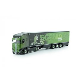 Scania Scania  S-Serie Highline 4x2 + Reefer Semitrailer 3 axle 'GS Transporte' - 1:50 - Tekno