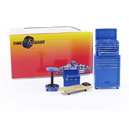 Tire Brigade Shop 4 Piece Tool Set - 1:18 - Motorhead Miniatures