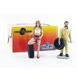 Tire Brigade Set #1 Andie & Gery - 1:18 - Motorhead Miniatures
