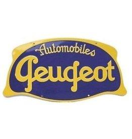 Blikken bord Tin Plate Automobiles Peugeot (32 cm x 17 cm)