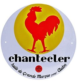 Blikken bord Tin Plate Chantecler (21 cm x 21 cm)
