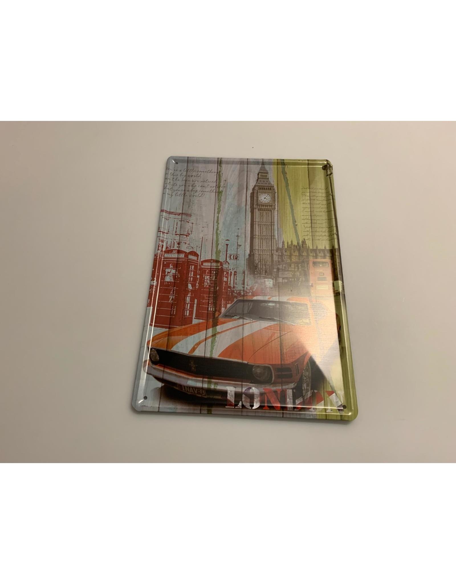Blikken bord Tin Plate Mustang  (20 cm x 30 cm)