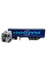 Iveco Iveco Fiat Stralis 460NP 4x2 + Tautliner Curtainside Semitrailer 3 Axle 'Transports Houtch' - 1:43 - Eligor