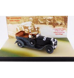 Isotta-Fraschini Isotta-Fraschini 8A Torpedo Cabriolet #5 Mille Miglia 1927 + Figure (90th Anniversary Mille Miglia) - 1:43 - Rio