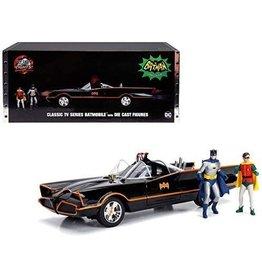 Movie Memorabilia Classic TV Series Batmobile + Die Cast Figures - 1:18 - Jada Toys