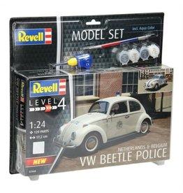 Volkswagen Beetle Police (NL / BE) + Aqua Color - 1:24 - Revell