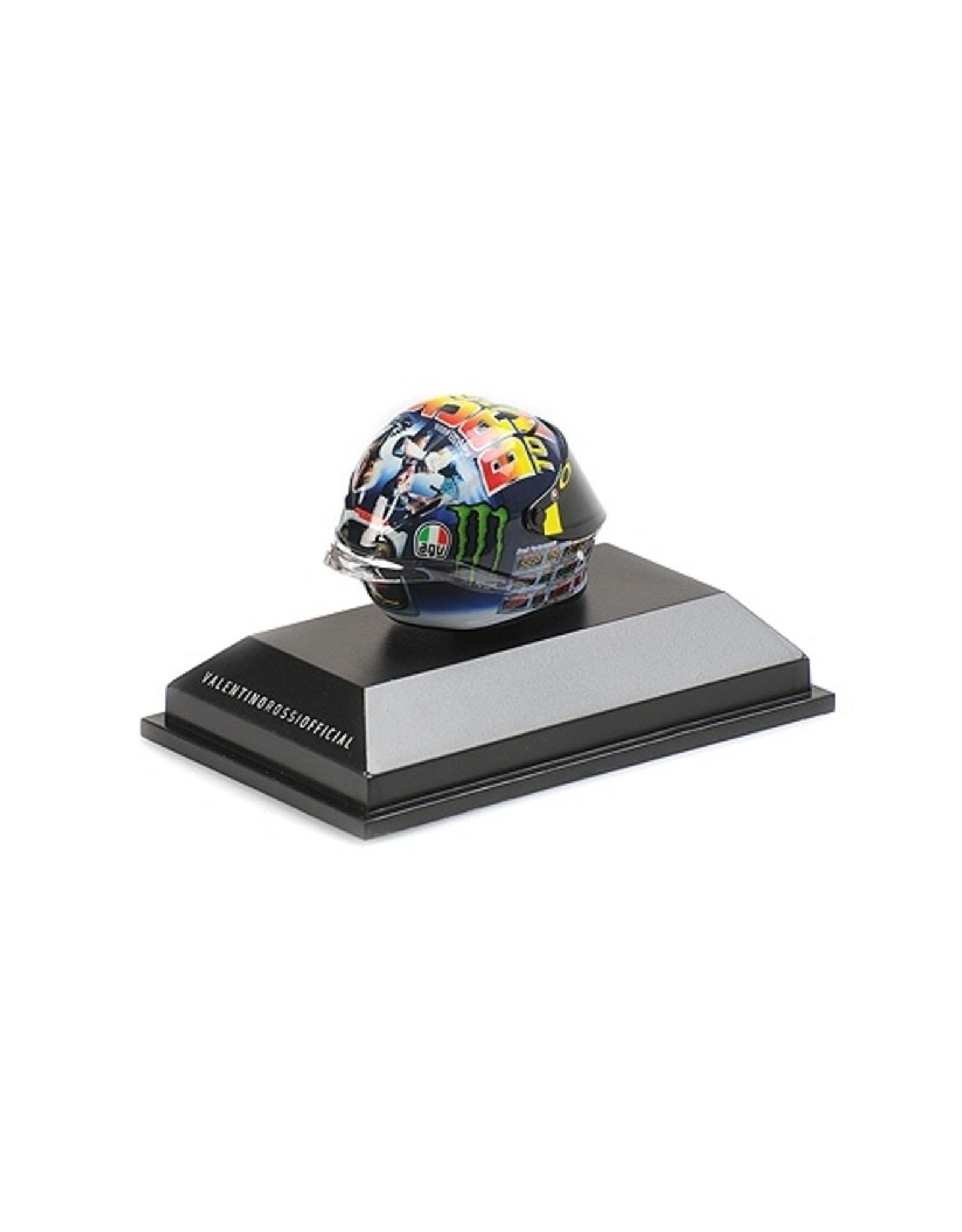 Helm AGV Helmet  V. Rossi MotoGP Misano 2018 - 1:8 - Minichamps
