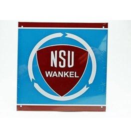 Blikken bord Tin Plate NSU (21 cm x 21 cm)