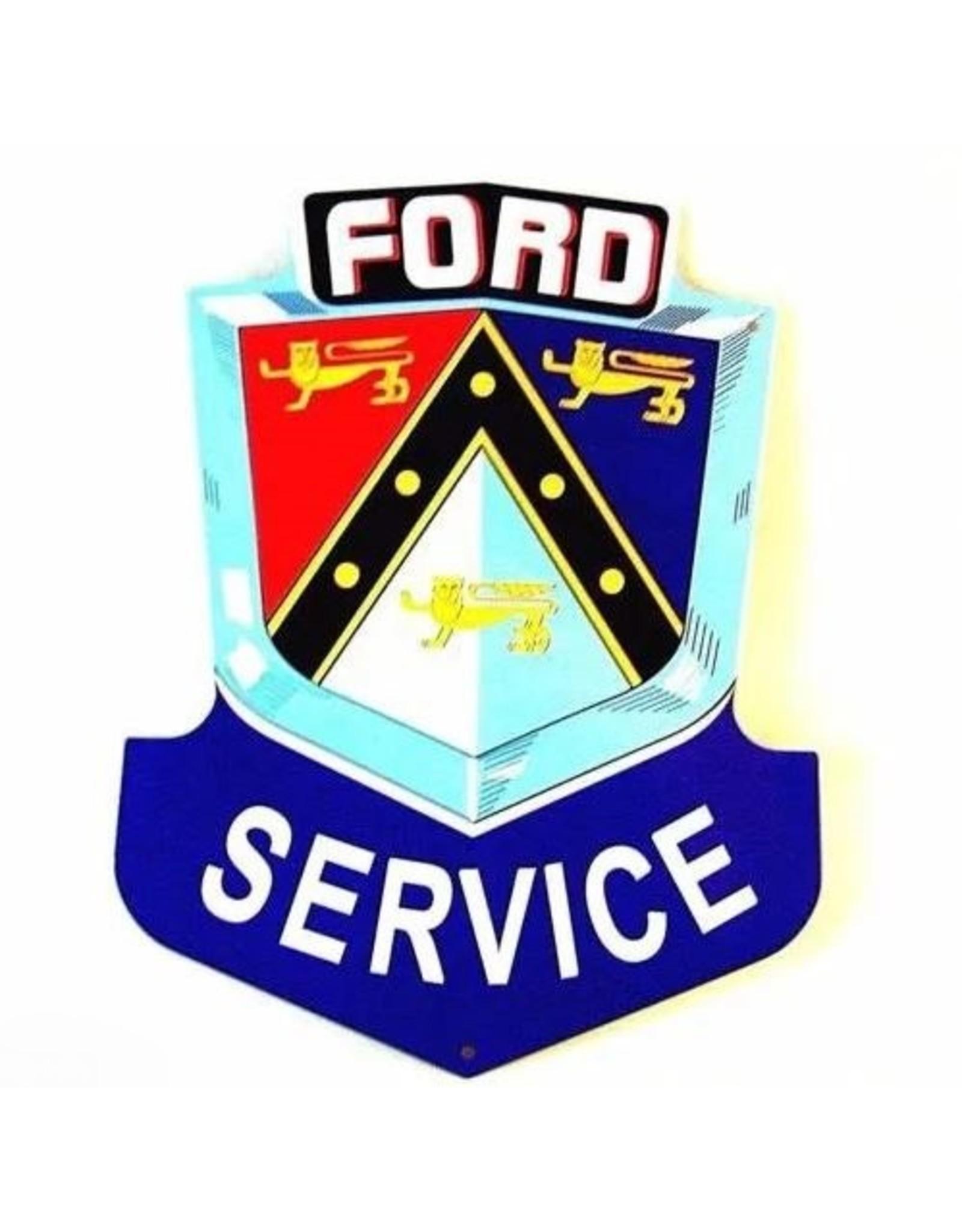 Blikken bord Tin Plate  Ford Service (21 cm x 27 cm)