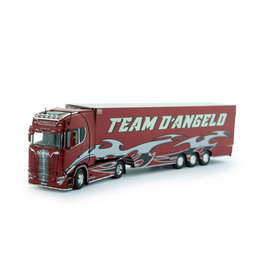 Scania Scania S-Serie Highline 4x2 + Reefer Semitrailer 3 Axle 'Team D'Angelo' - 1:50 - Tekno
