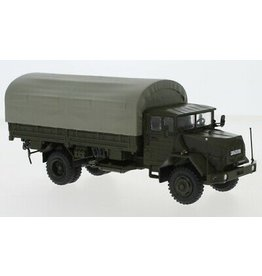 MAN MAN 630 Bundeswehr Flatbed Truck + Cover - 1:43 - Premium ClassiXXs