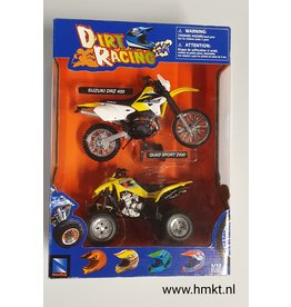 Suzuki Suzuki DR-Z400  + QuadSport Z400 Dirt Racing - 1:12 - NewRay