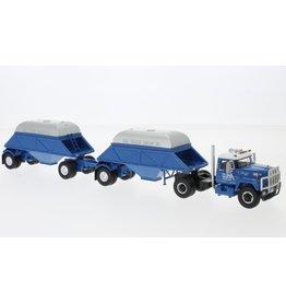 IHC IHC Fleetstar 2000-D Tractor 4x2 + 2 Bottom Dump Trailers Closed 1963 - 1:64 - Neo Scale Models