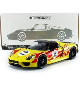 Porsche Porsche 918 Spyder Weissach Package 2015 - 1:18 - Minichamps