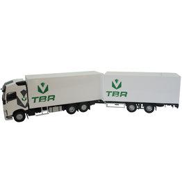 Volvo Volvo FH 4 500 6x2 Rigid Truck + Draw Bar Trailer 2 Axle 'Transports TBR' 2016 - 1:43 - Eligor
