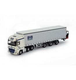 DAF DAF Euro 6 XF Super Space Cab 6x2 (MY2017) + Curtainside Semitrailer 3 Axle + Mounted Forklift 'BVB Logistics' - 1:50 - Tekno