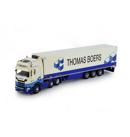 Scania Scania NGS S-Serie Highline 6x2 + Reefer Semitrailer 3 Axle 'Thomas Boers' - 1:50 - Tekno