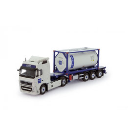 Volvo Volvo FH03 Globetrotter 4x2 + Semi Container Trailer 3 Axle + ISO Tank Container 'Exsif' - 1:50 - Tekno