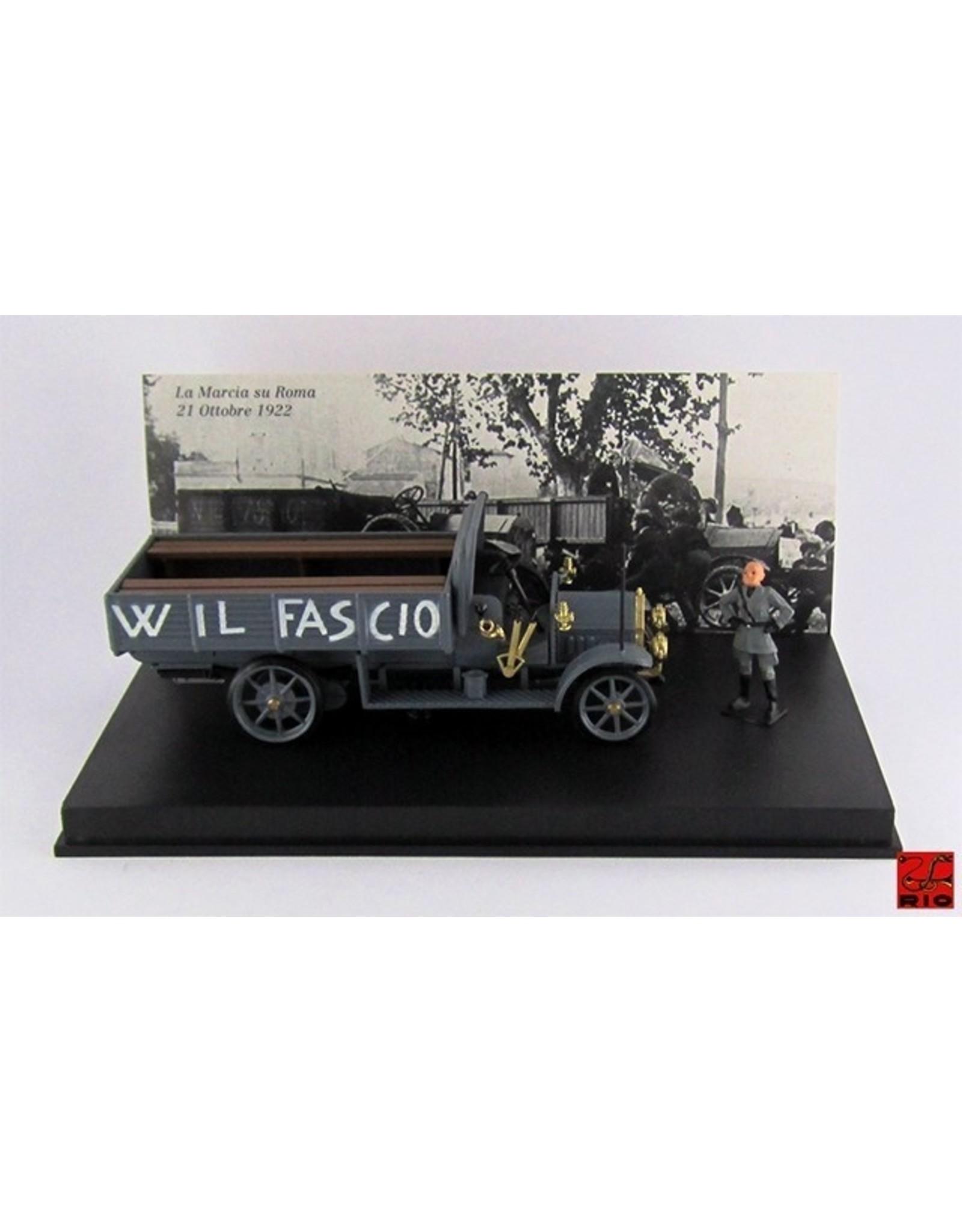 Fiat Fiat 18BL Truck The March to Rome 22 Oct. 1922 + Figure Mussolini 'W. IL Fascio' - 1:43 - Rio