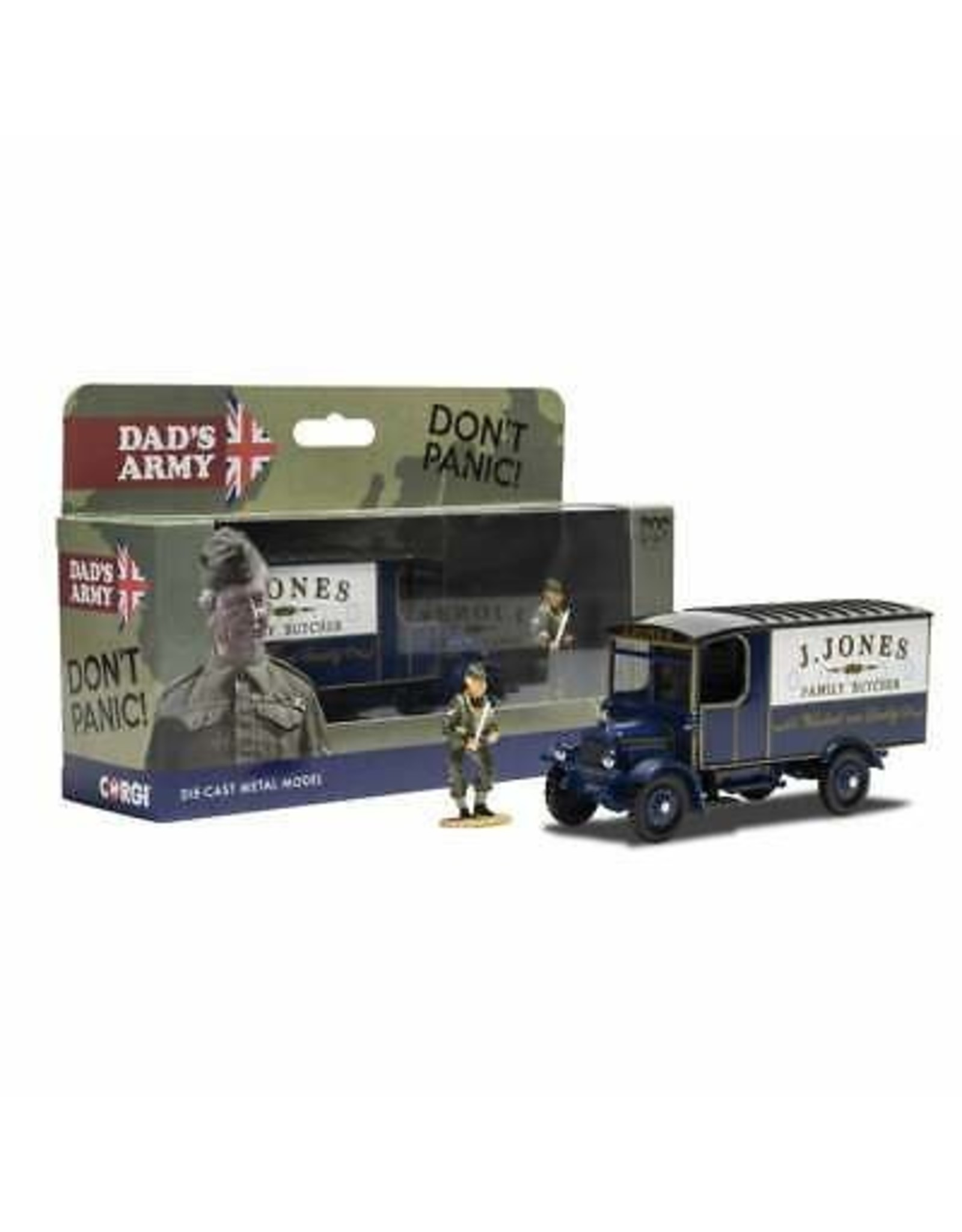 Thornycroft Thornycroft Van RHD 'TV Series Dads Army'+ Figure Mr. Jones - 1:50 - Corgi