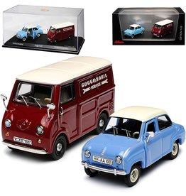 Goggomobil Set Goggomobil T250 (Limousine) + TL400 (Transporter) - 1:43 - Schuco