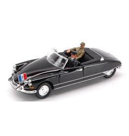 Citroen Citroen DS Cabriolet + Figure General De Gaulle & Driver 1959 - 1:43 - Rio