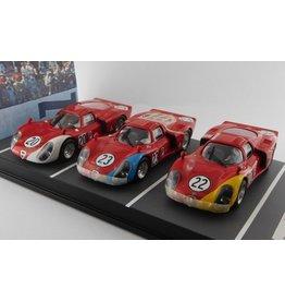 Alfa Romeo Alfa Romeo 33.2 #20 5th - #23 6th - #22 7th Daytona (USA) 1968 (SET 3x)  - 1:43 - Best Model