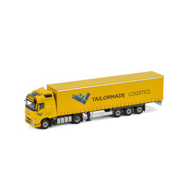 Volvo Volvo FH4 Globetrotter 4x2 + Curtainside Semitrailer 3 Axle 'Tailormade Logistics' - 1:50 - WSI Models