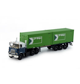 Mack Mack F700 6x4 + Classic Container Trailer 3 Axle + 2x 20ft Container 'Groeneboom BV' - 1:50 - Tekno