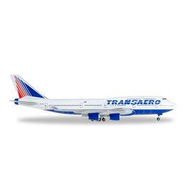 Boeing Boeing 747-400 'Transaero Airlines EI-XLL' - 1:500 - Herpa