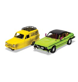 Reliant Reliant Robin + Ford Capri MKIII (SET) RHD Trotters Independent Trading 'Only Fools and Horses' - 1:36  - Corgi