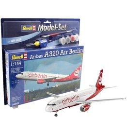 Airbus A320 Air Berlin + Aqua Color - 1:144 - Revell