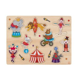 Wooden Buttons Puzzle Circus - 9 parts