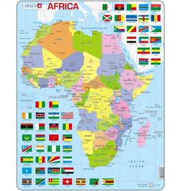 Larsen Larsen Africa Puzzle - Political - 70 parts