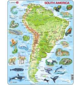Larsen Larsen Zuid-Amerika Puzzel - Natuurkundig - 65 onderdelen