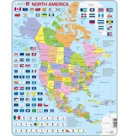 Larsen Larsen Noord Amerika Puzzel - Staatkundig - 70 onderdelen