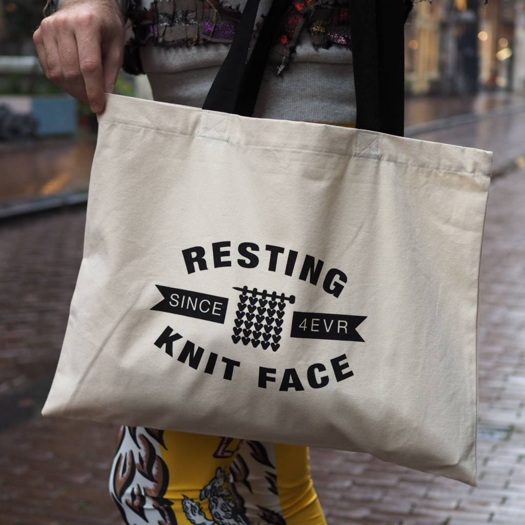 RESTING KNIT FACE - TOTEBAG