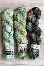 Hedgehog Fibres THREE SKEIN FADE - GRITTY MINT