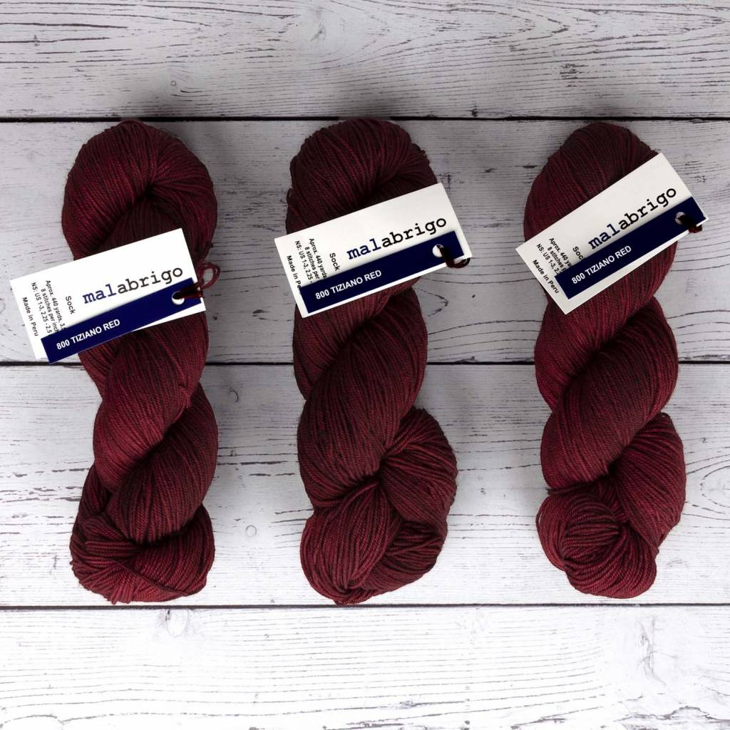 Malabrigo SOCK TIZIANO RED