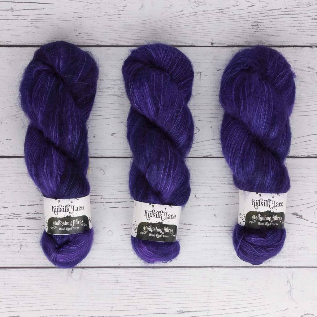 Hedgehog Fibres HHF KIDSILK LACE PURPLE REIGN