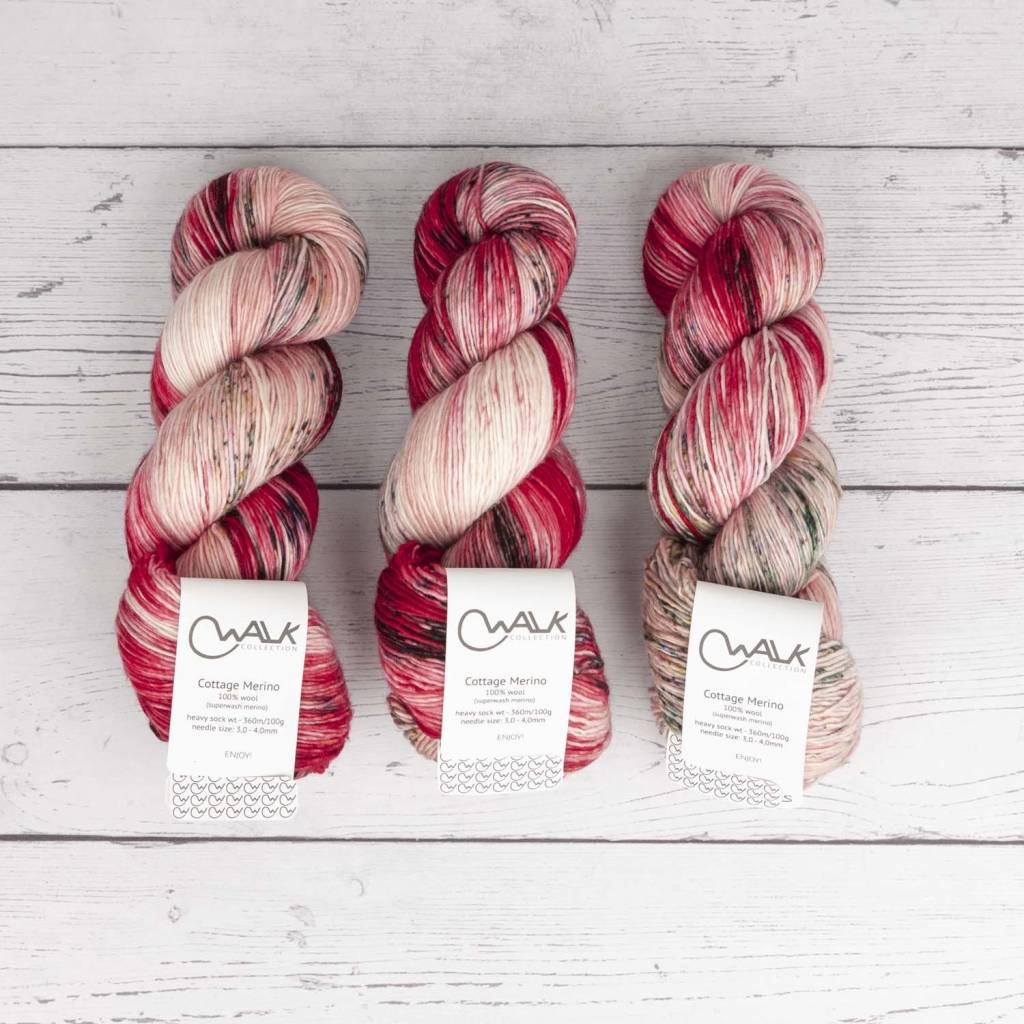 WALK collection COTTAGE MERINO - WILD ROSES