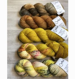 WALK collection FIVE SKEIN FADE - GLITTER & GOLD