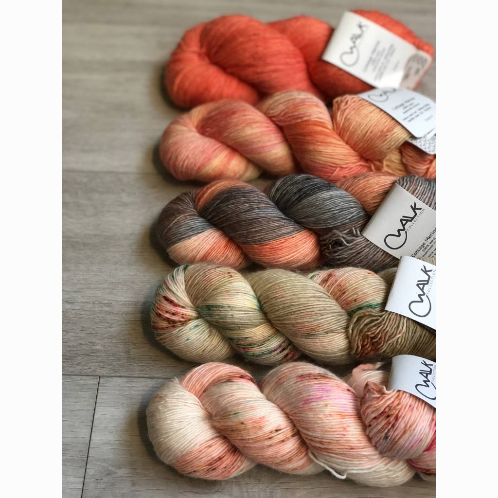 WALK collection FIVE SKEIN FADE - CRAZY FOR CORAL