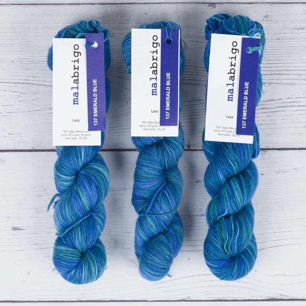 Malabrigo LACE EMERALD BLUE