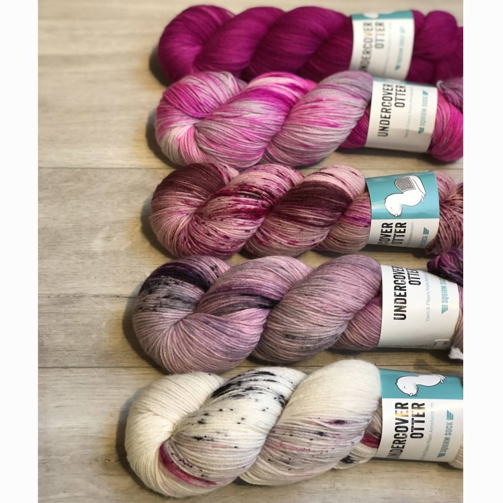 Undercover Otter FIVE SKEIN FADE - PINK SQUIRM