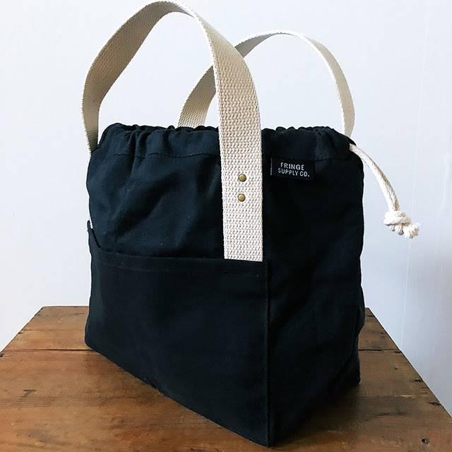 Fringe Supply Co. TOWN BAG - BLACK